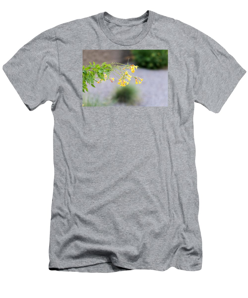 Yellow Men's T-Shirt (Athletic Fit) featuring the photograph Yellow Flower by Daniel Seok