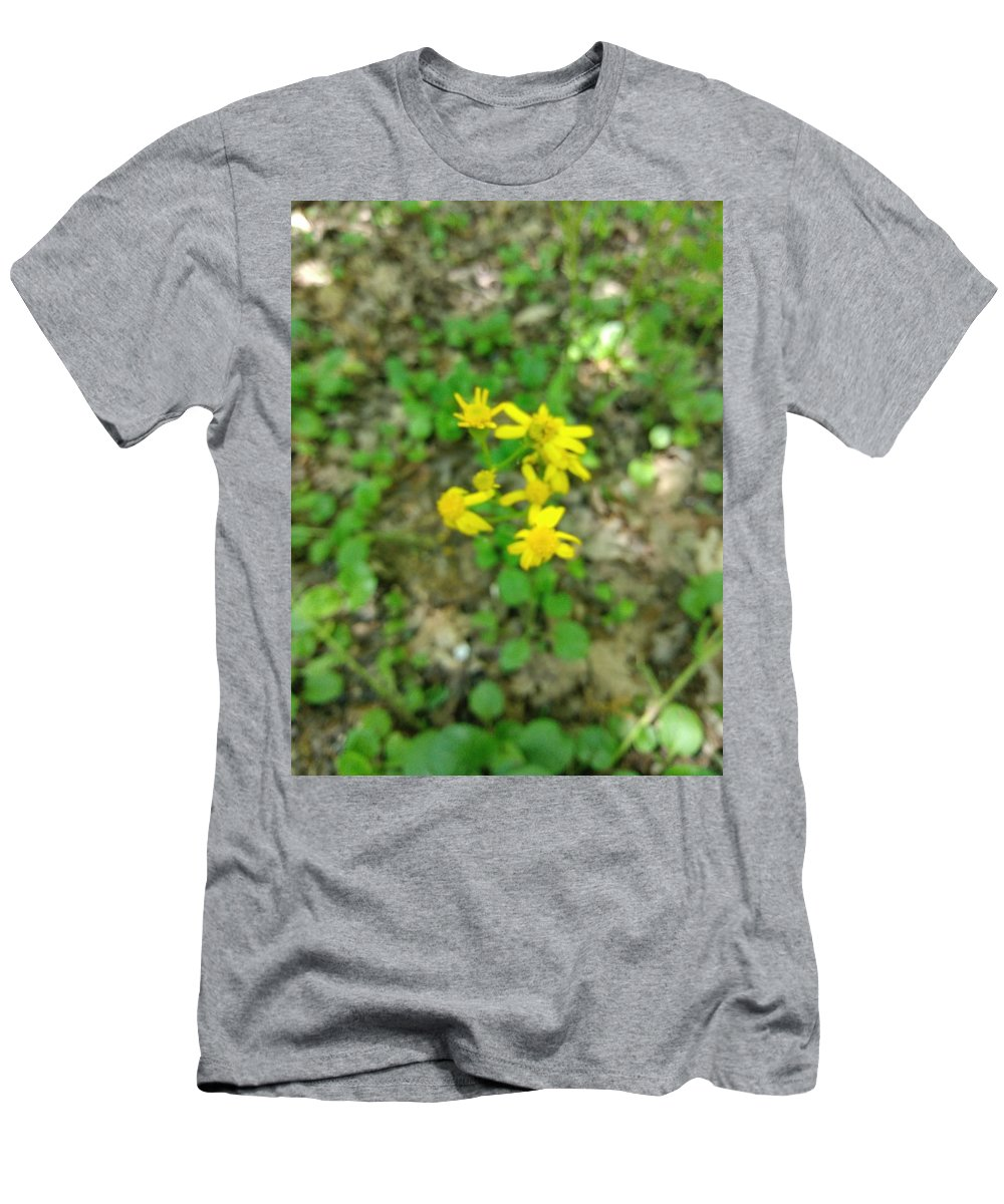 Yellow Men's T-Shirt (Athletic Fit) featuring the photograph Yellow Flowers by Alisha Albin