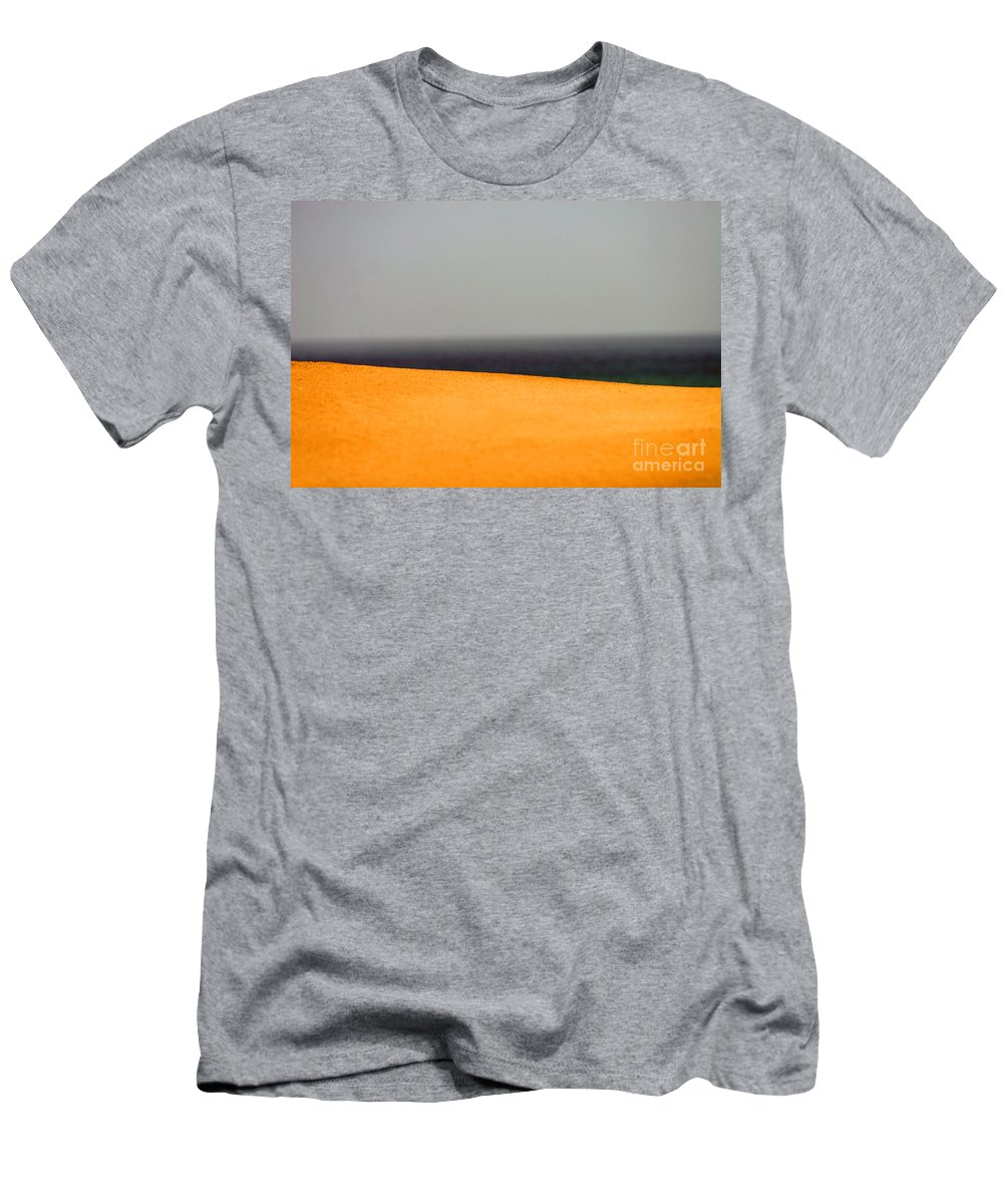 Yellow Men's T-Shirt (Athletic Fit) featuring the photograph Yellow Horizon by Hana Shalom