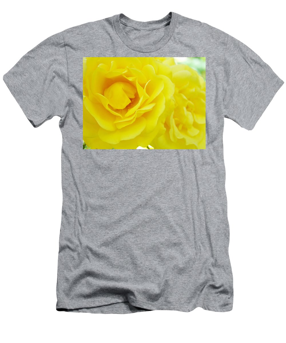 Rose Men's T-Shirt (Athletic Fit) featuring the photograph Yellow Roses Art Prints Botanical Giclee Prints Baslee Troutman by Baslee Troutman