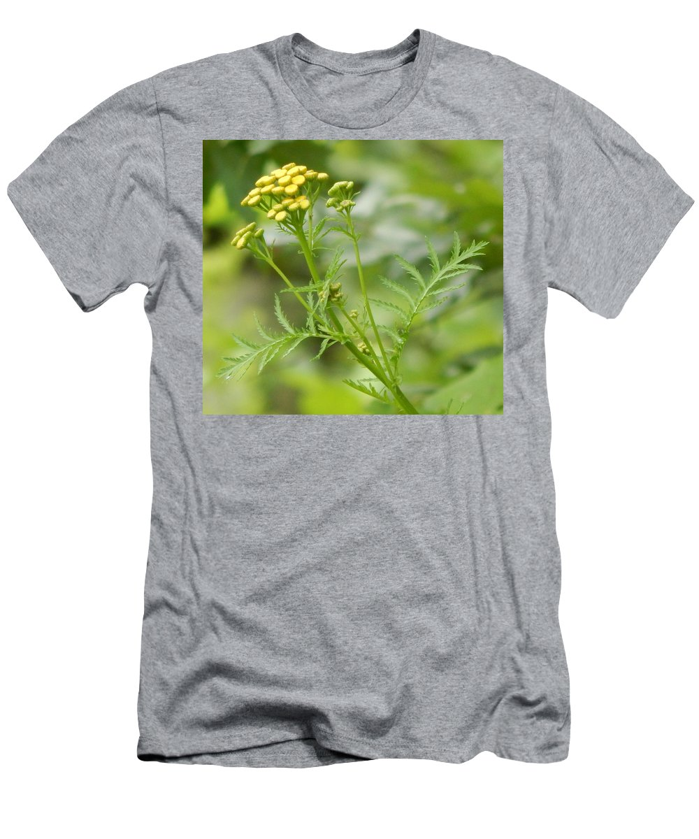 Yellow Men's T-Shirt (Athletic Fit) featuring the photograph Yellow Wildflower by Lisa Cassinari