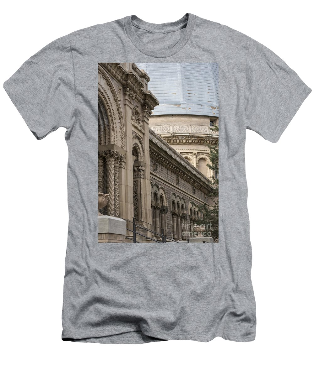Yerkes Men's T-Shirt (Athletic Fit) featuring the photograph Yerkes Details by David Bearden