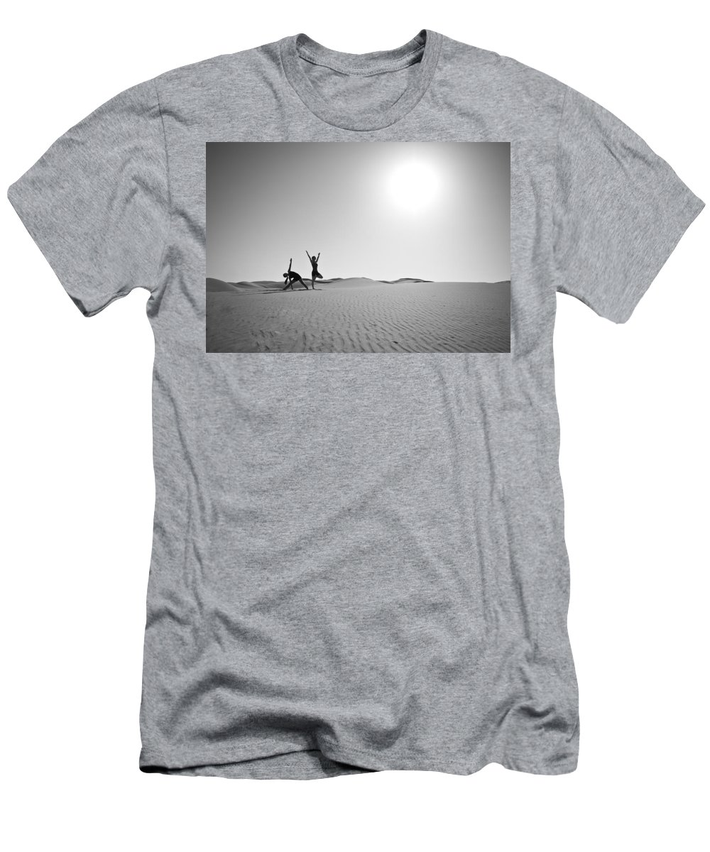 Yoga Men's T-Shirt (Athletic Fit) featuring the photograph Yoga Landscape by Scott Sawyer