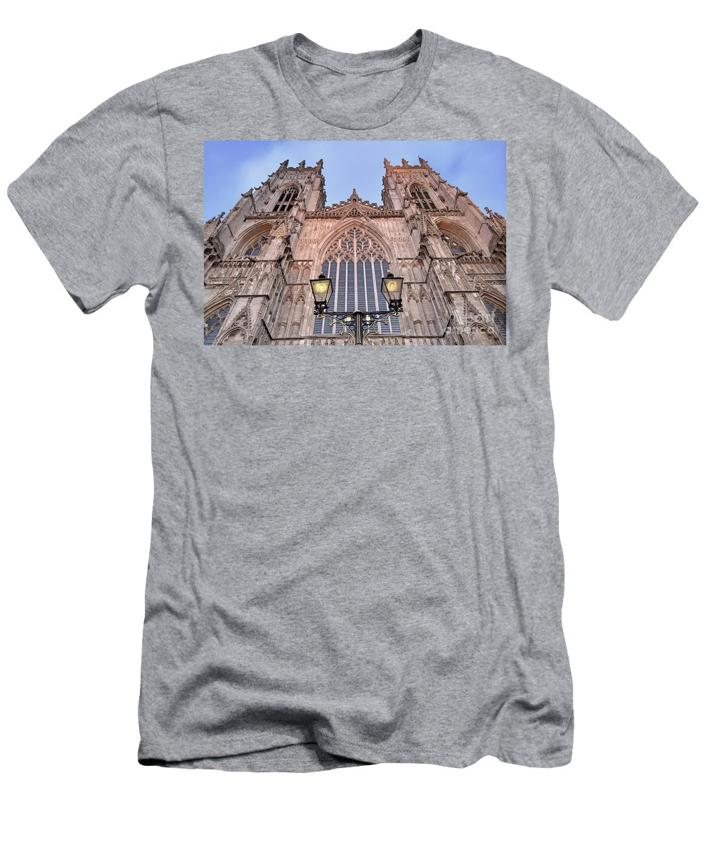 York Minster Men's T-Shirt (Athletic Fit) featuring the photograph York Minster by Martin Williams