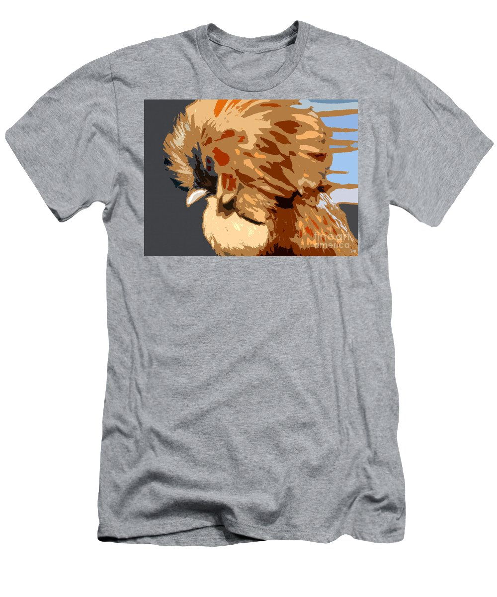 Art Men's T-Shirt (Athletic Fit) featuring the painting You Chicken Two by David Lee Thompson