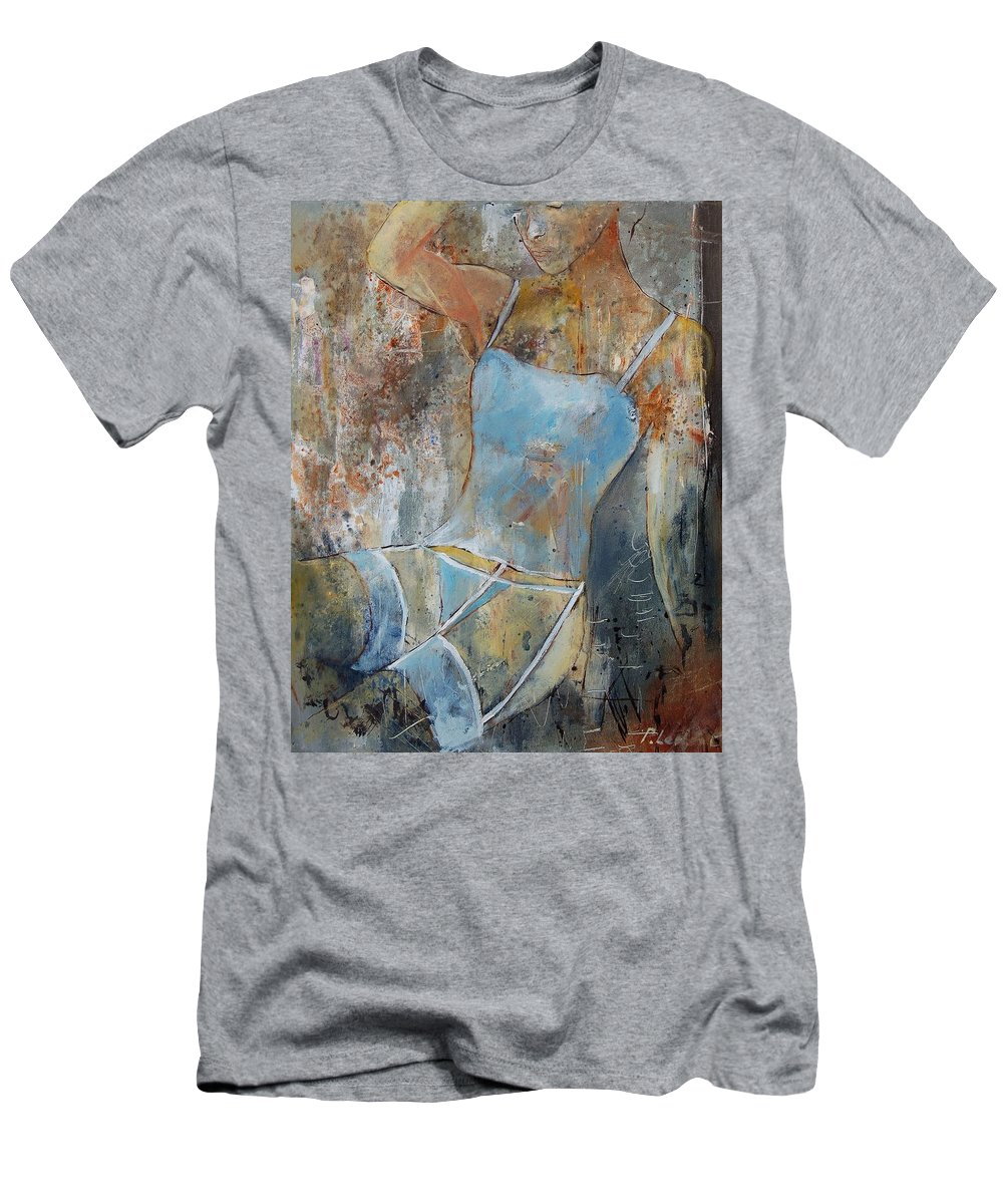 Nude T-Shirt featuring the painting Young Girl 451108 by Pol Ledent