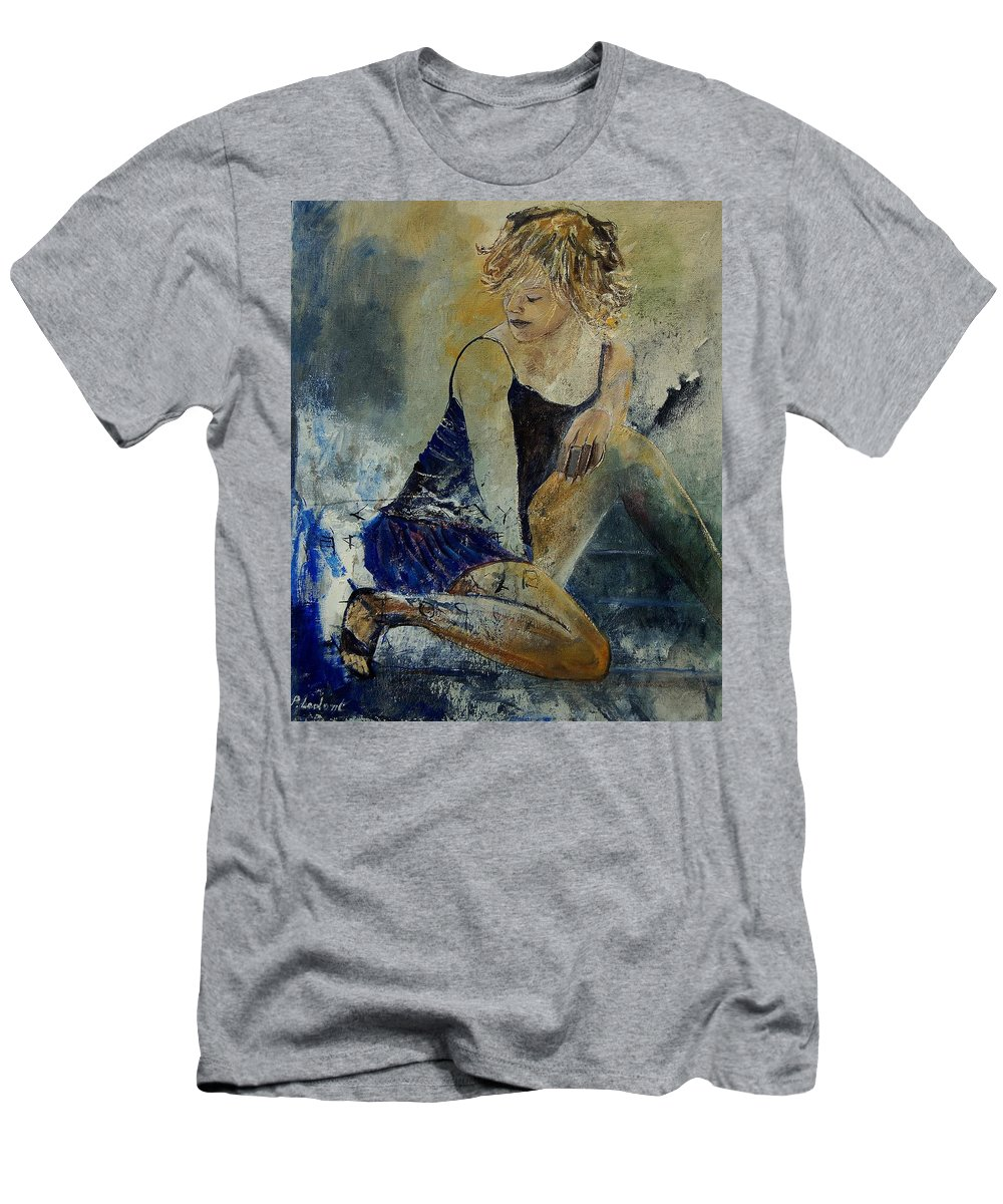 Nude Men's T-Shirt (Athletic Fit) featuring the painting Young Girl 5689474 by Pol Ledent