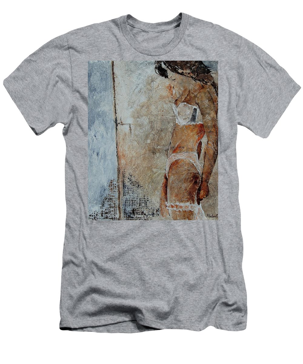 Men's T-Shirt (Athletic Fit) featuring the painting Young Girl 572563 by Pol Ledent