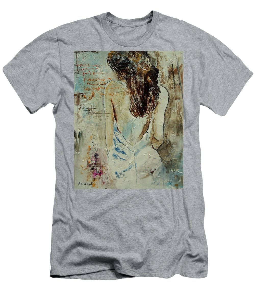 Nude Men's T-Shirt (Athletic Fit) featuring the painting Young Girl 64 by Pol Ledent