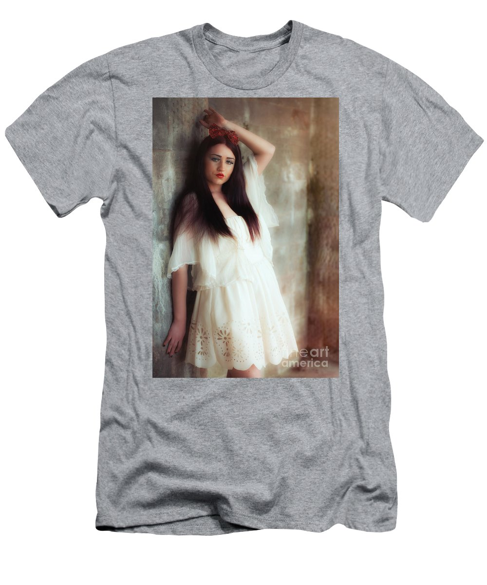 Young Men's T-Shirt (Athletic Fit) featuring the photograph Young Woman by Amanda Elwell