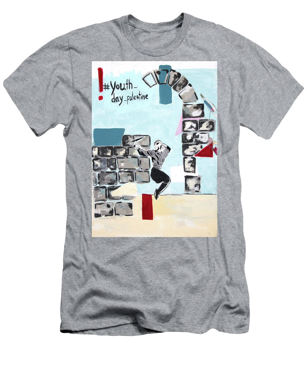 Youth Day Men's T-Shirt (Athletic Fit) featuring the photograph Youth Day by Munir Alawi