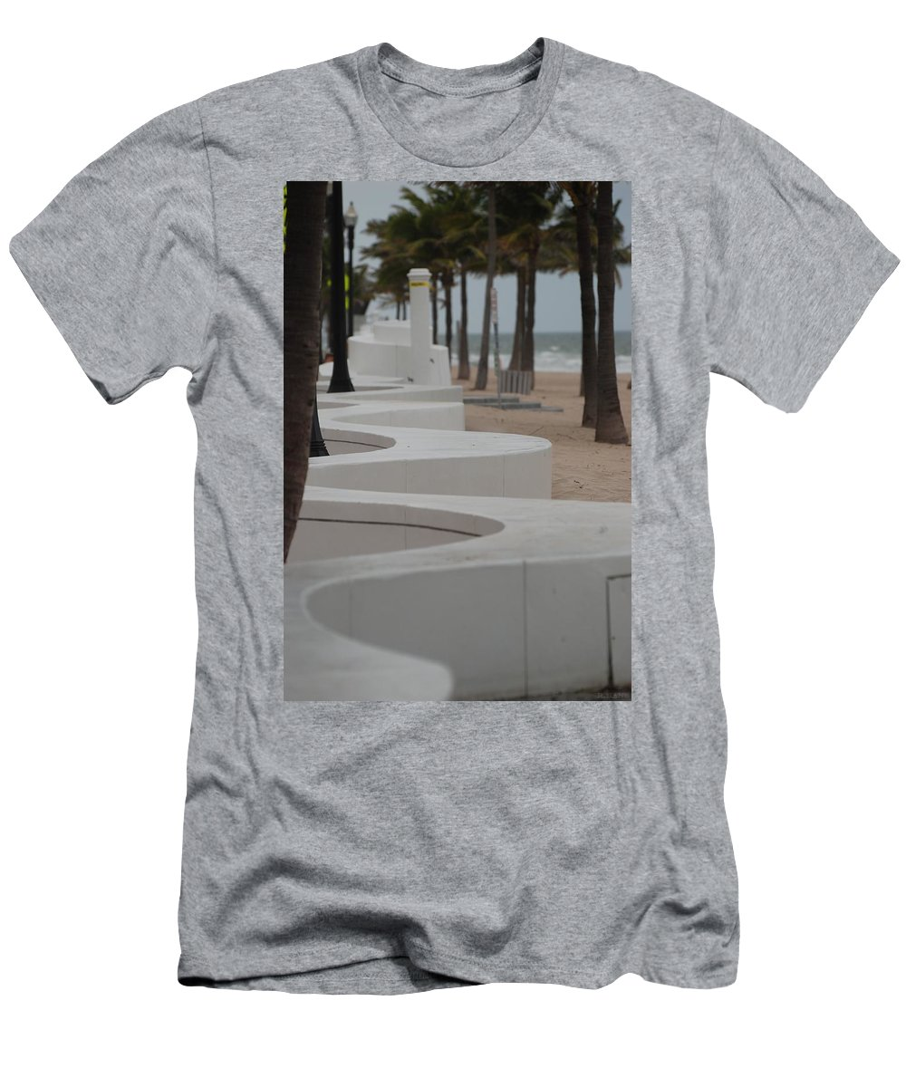 Pop Art Men's T-Shirt (Athletic Fit) featuring the photograph Zig Zag At The Beach by Rob Hans