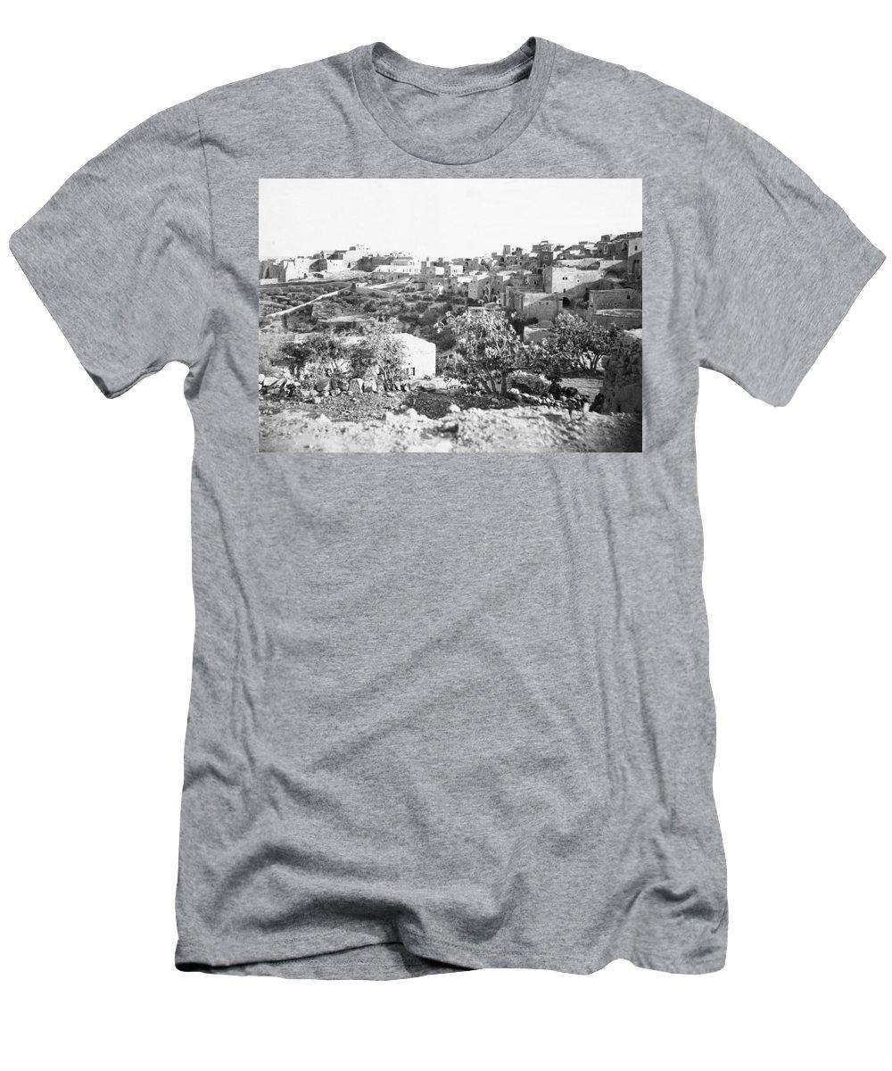 Tancrède Dumas Men's T-Shirt (Athletic Fit) featuring the photograph Bethlehem 19th Century by Munir Alawi
