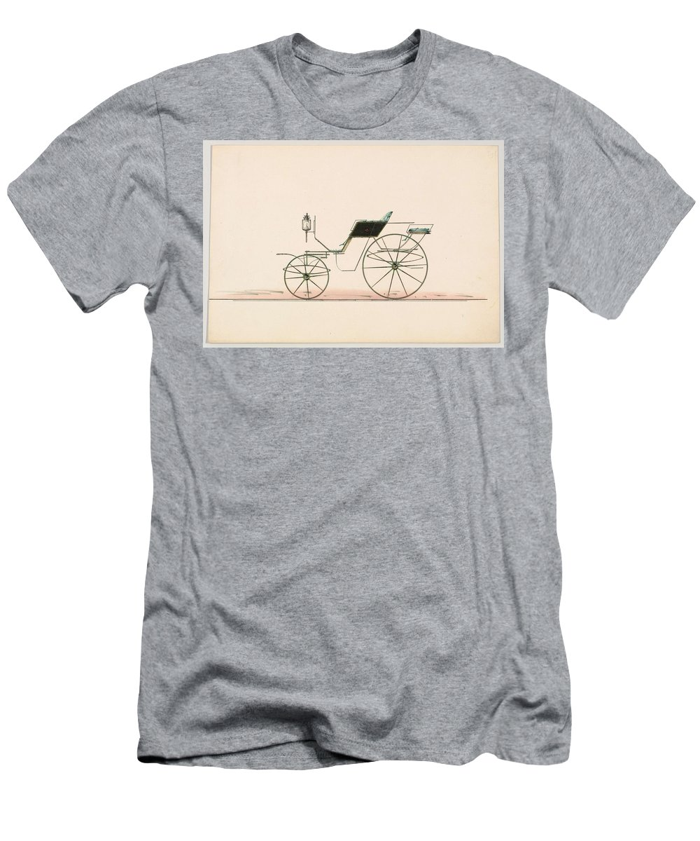 Car Men's T-Shirt (Athletic Fit) featuring the painting Design For Driving Or Road Phaeton Unnumbered by MotionAge Designs