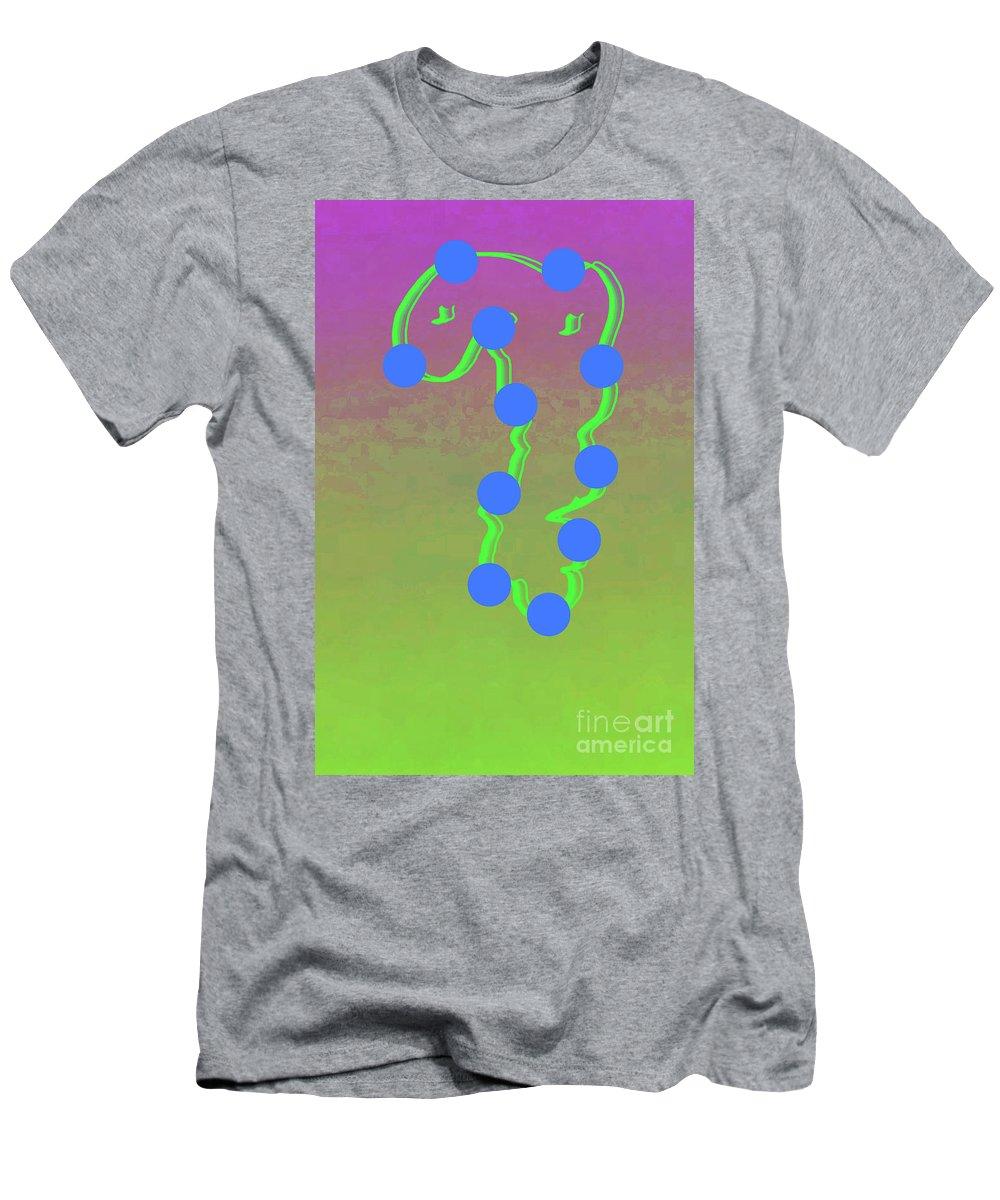 Walter Paul Bebirian Men's T-Shirt (Athletic Fit) featuring the digital art 11-6-2015dabcdefghi by Walter Paul Bebirian