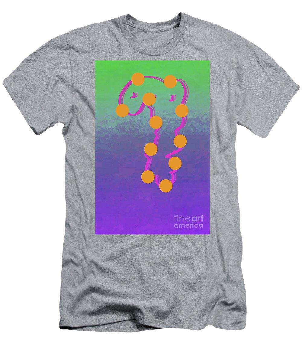 Walter Paul Bebirian Men's T-Shirt (Athletic Fit) featuring the digital art 11-6-2015dabcdefghijklmnopqrtuvwxyzab by Walter Paul Bebirian