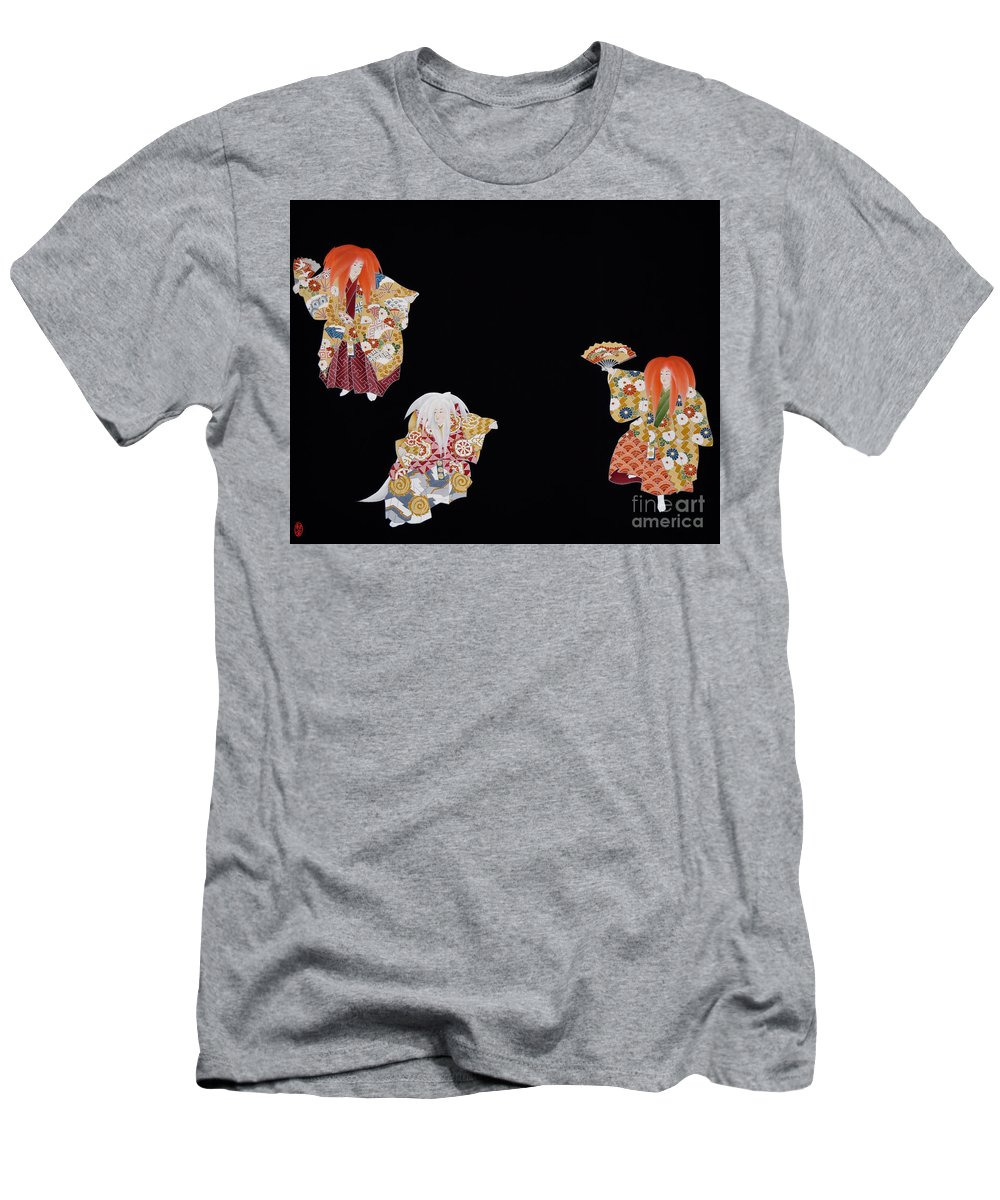 T-Shirt featuring the tapestry - textile Spirit of Japan T59 by Miho Kanamori