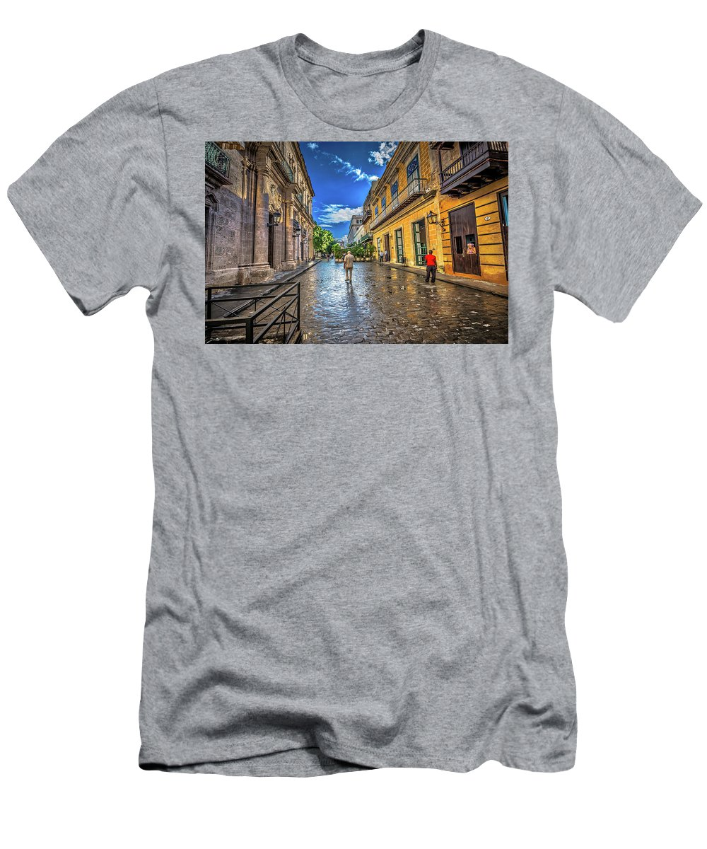 Havana Cuba Men's T-Shirt (Athletic Fit) featuring the photograph Havana by Bill Howard