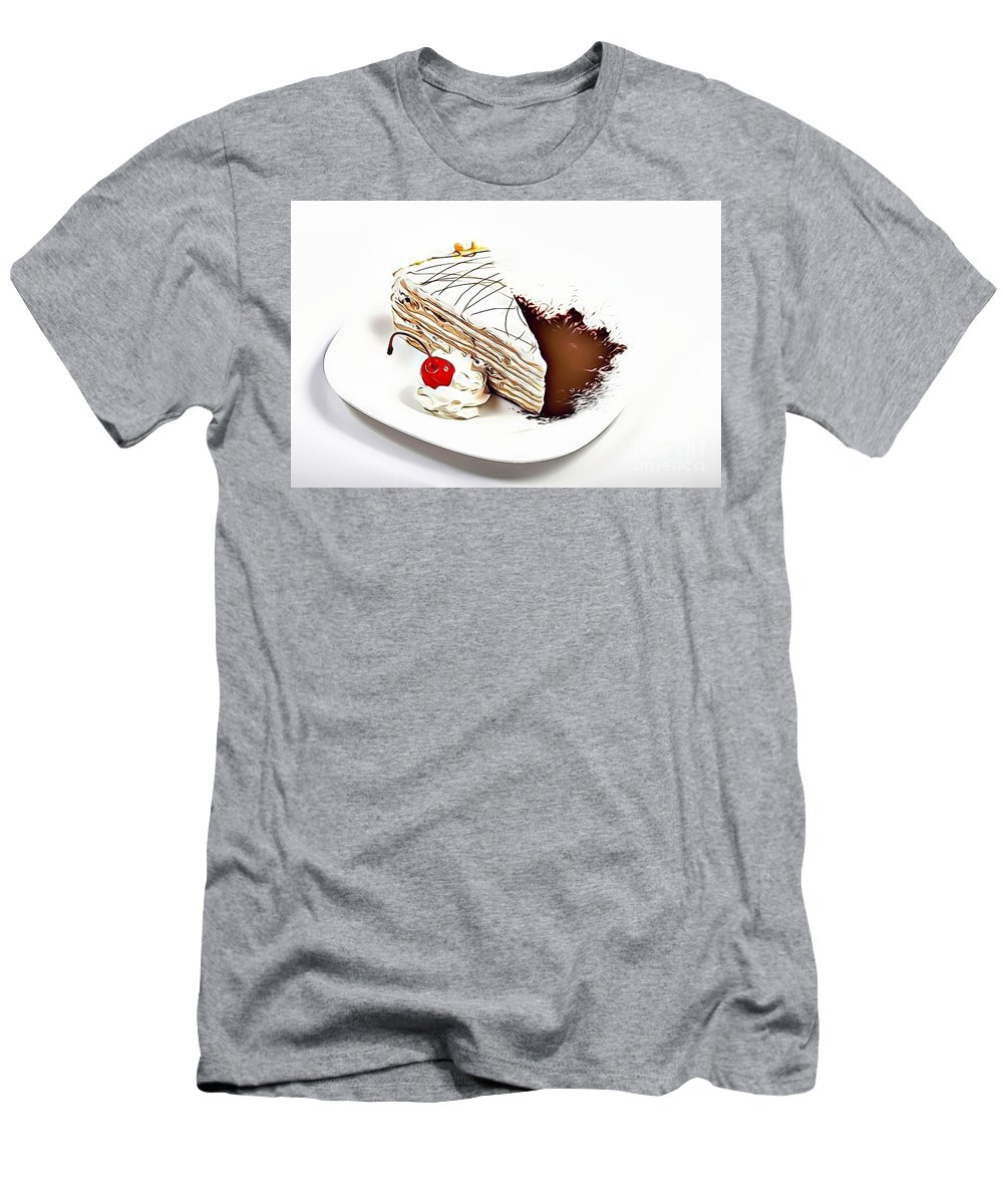 Urban Men's T-Shirt (Athletic Fit) featuring the digital art 7 Eat Me Now by Leo Rodriguez