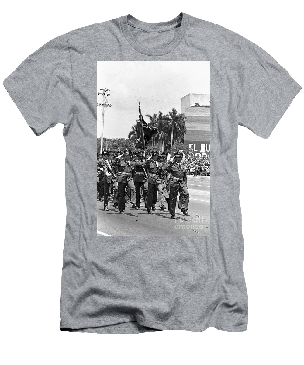 March Men's T-Shirt (Athletic Fit) featuring the photograph Marchers by Venancio Diaz