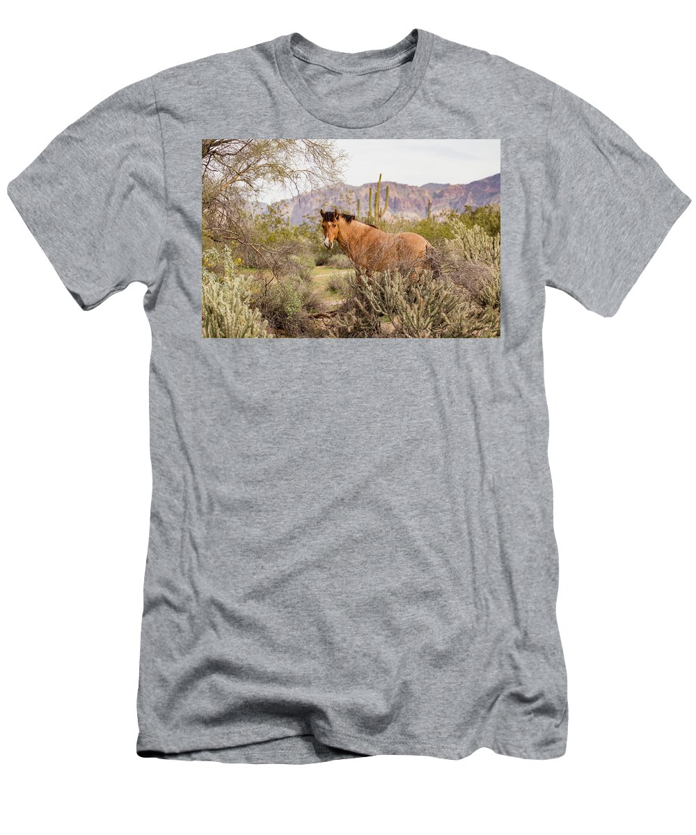 Usa T-Shirt featuring the photograph A Desert Poser by Cathy Franklin