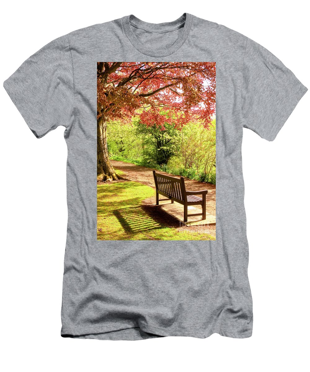Bench Men's T-Shirt (Athletic Fit) featuring the photograph At Ease by Martina Schneeberg-Chrisien