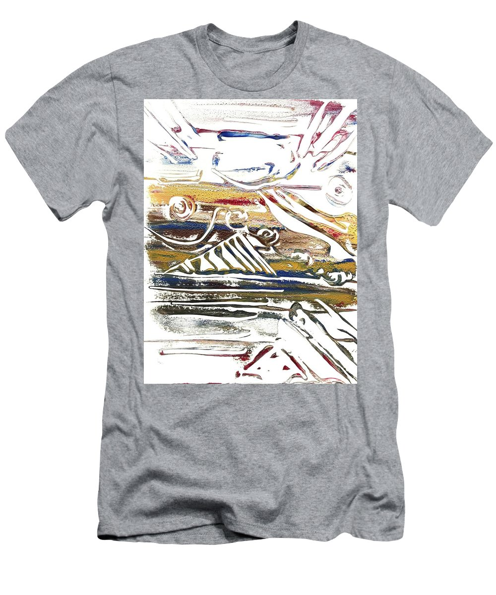 Monotype Men's T-Shirt (Athletic Fit) featuring the painting Barbarian Horde 1 by Elizabeth Beach