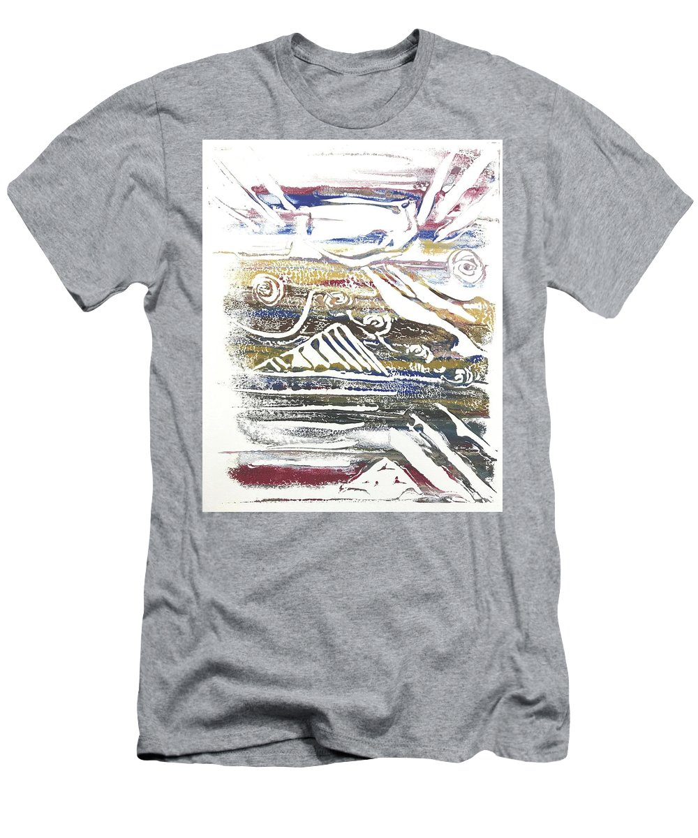Monotype Men's T-Shirt (Athletic Fit) featuring the painting Barbarian Horde 2 by Elizabeth Beach