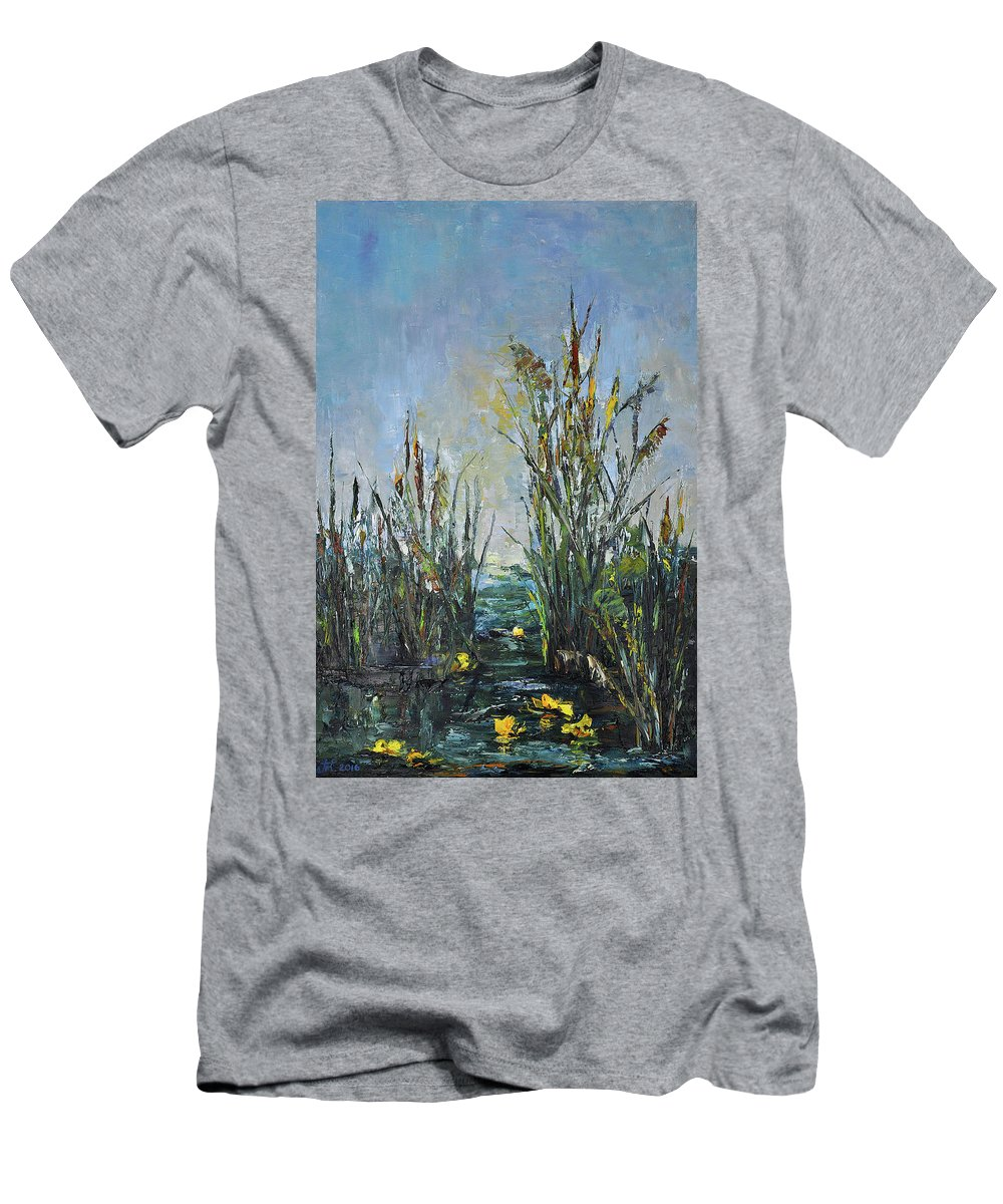 Bay Men's T-Shirt (Athletic Fit) featuring the painting Bays Of The River by Tetiana Korol
