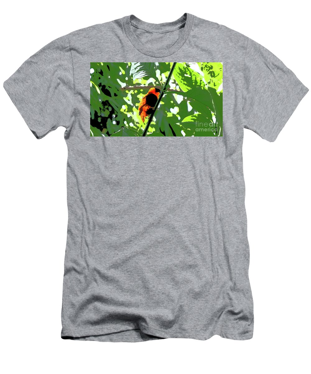 Bird Men's T-Shirt (Athletic Fit) featuring the photograph Beautiful Creature by Liliana Pop Schroffel