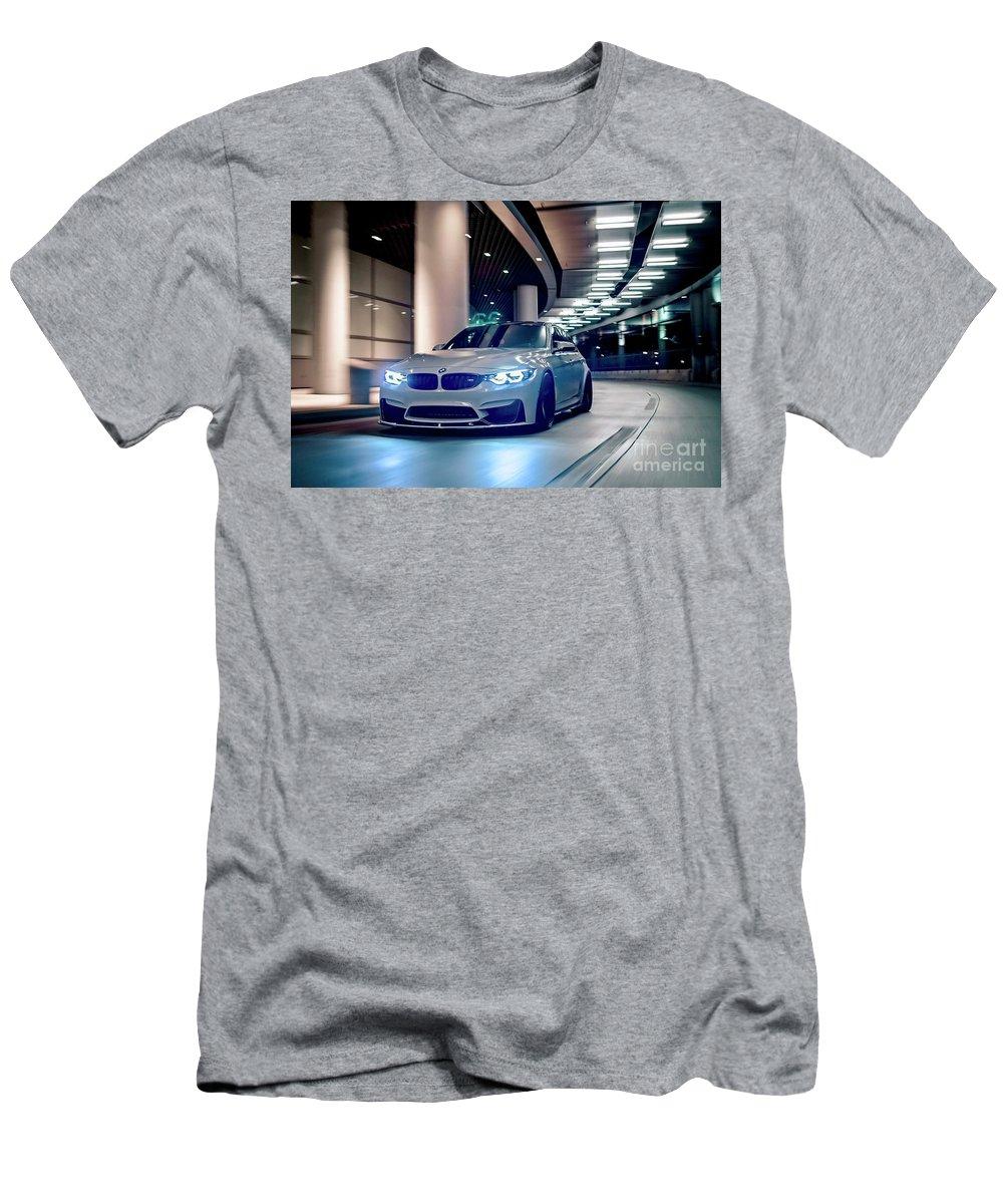 Automotive Men's T-Shirt (Athletic Fit) featuring the photograph Bmw M3 Hd by EliteBrands Co