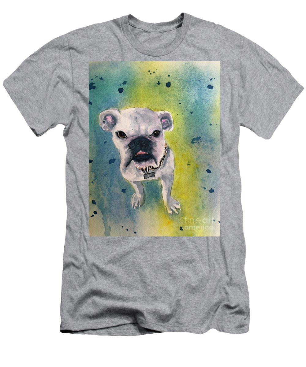 English Bulldog T-Shirt featuring the painting Captain by Midge Pippel