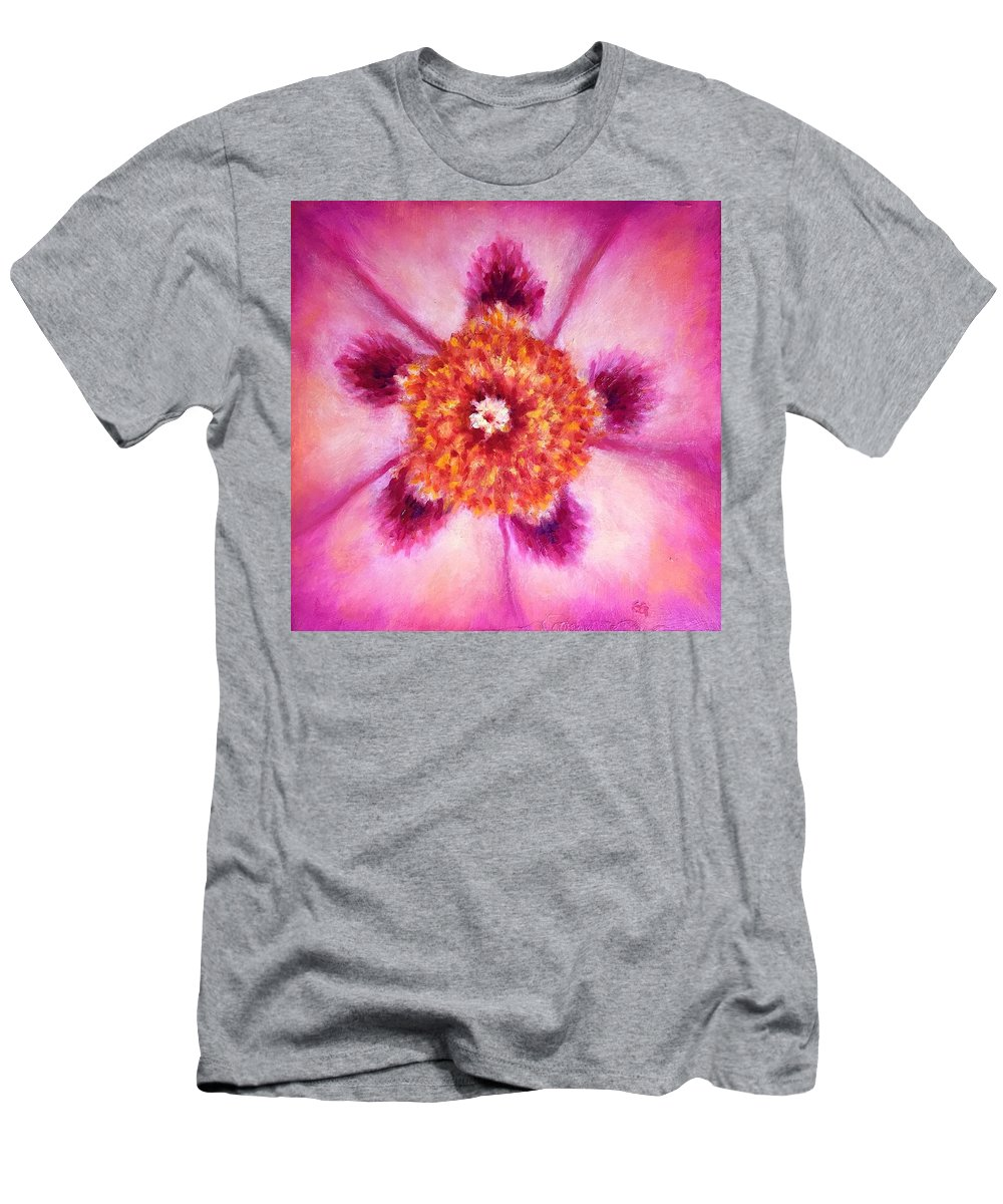 Compassion T-Shirt featuring the painting Compassion Heart Center Series by Shannon Grissom