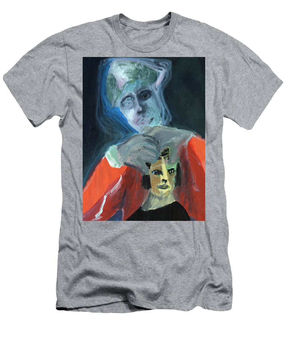 Confuser Men's T-Shirt (Athletic Fit) featuring the painting Confuser by Artist Dot