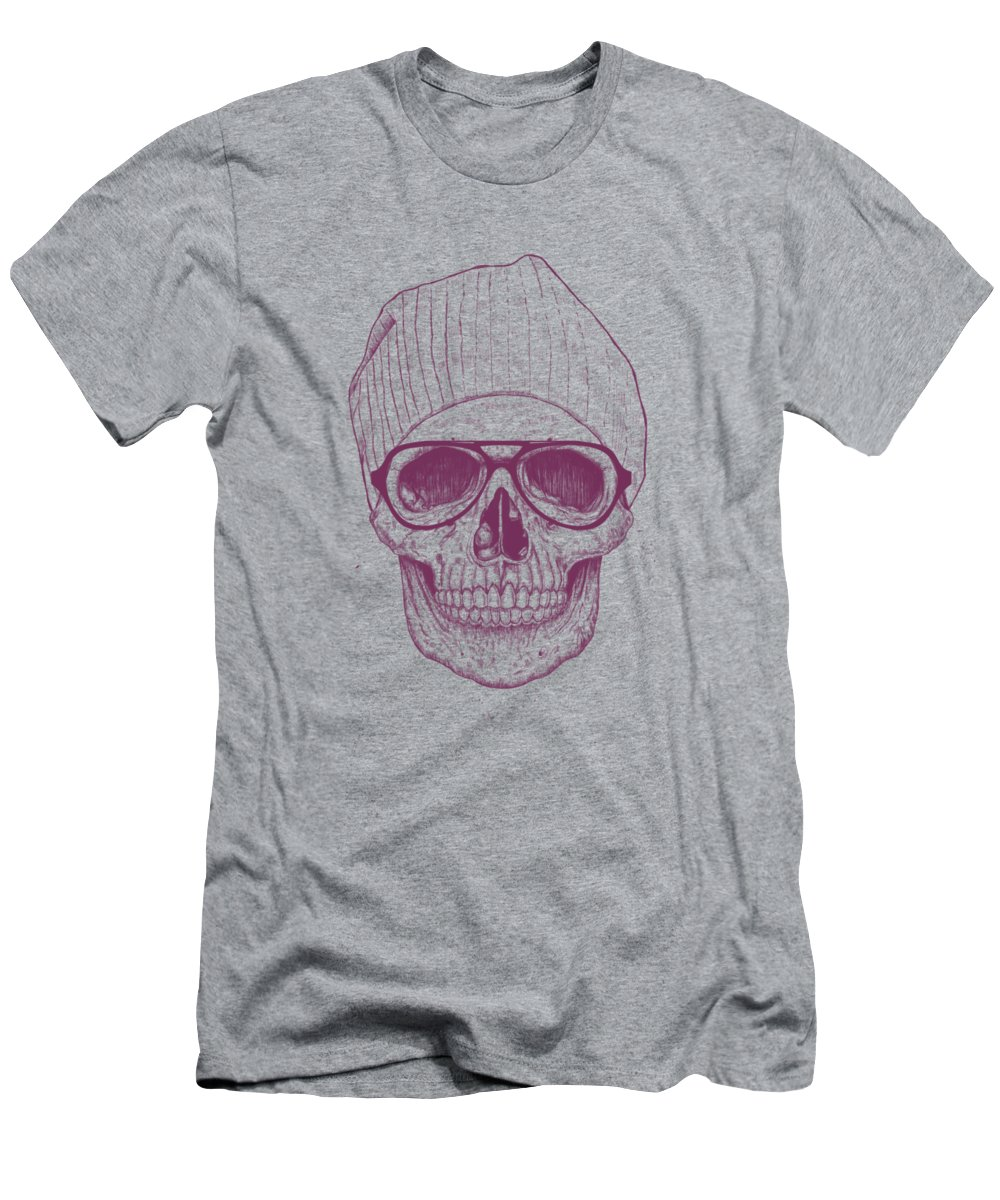 Skull Men's T-Shirt (Athletic Fit) featuring the drawing Cool Skull by Balazs Solti