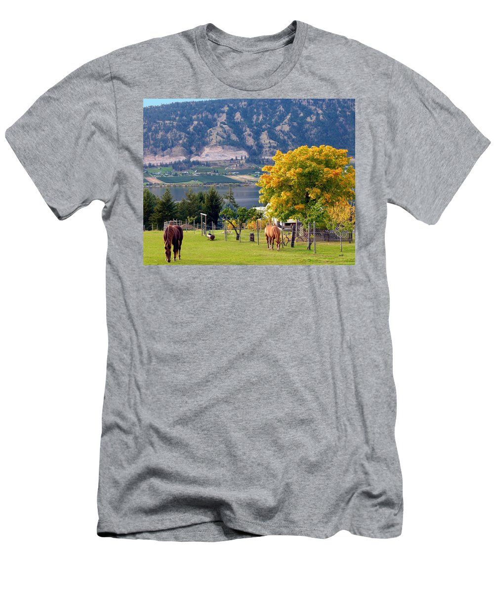 Horses Men's T-Shirt (Athletic Fit) featuring the photograph Days Of Autumn 25 by Will Borden