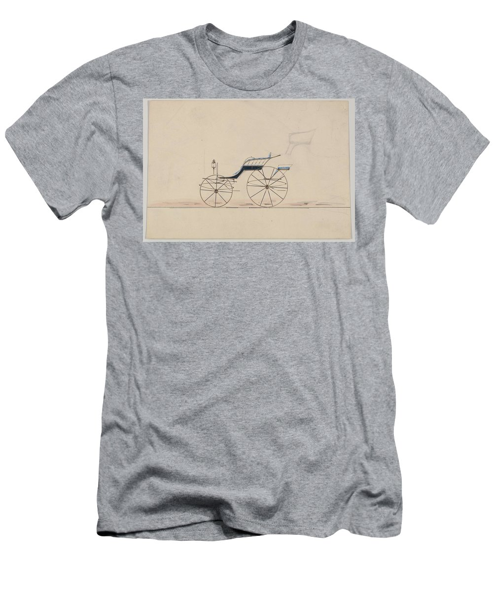 Car Men's T-Shirt (Athletic Fit) featuring the painting Design For Driving Phaeton Unnumbered Brewster And Co. American, New York by MotionAge Designs