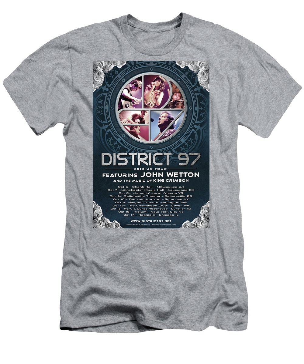 T-Shirt featuring the digital art District 97/John Wetton US Tour by District 97