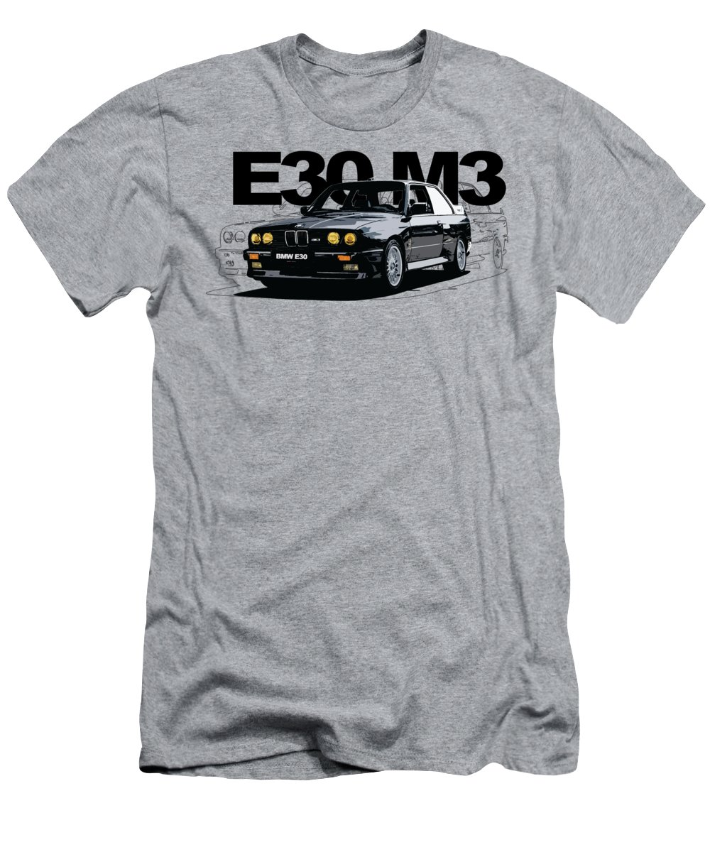 6 Cylinder Engine Men s T-Shirt (Athletic Fit) featuring the digital art E30 6cc89e4f0