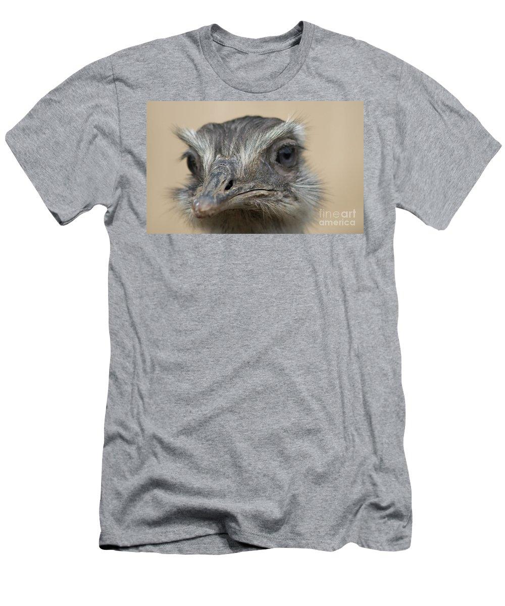 Emu Men's T-Shirt (Athletic Fit) featuring the photograph Emu Print 9053 by Paulette Thomas