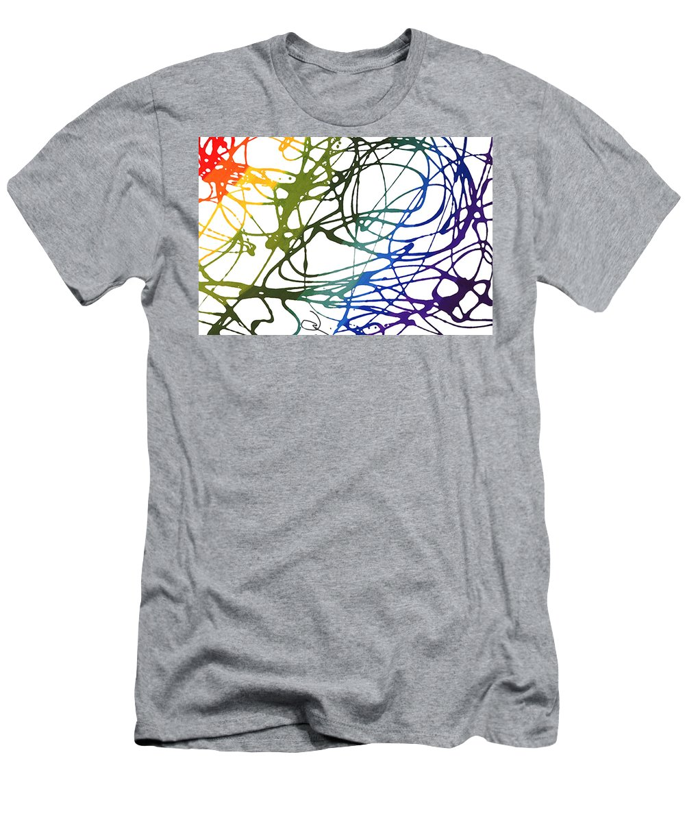 Jai Adams Men's T-Shirt (Athletic Fit) featuring the painting Entangled by Jai Adams