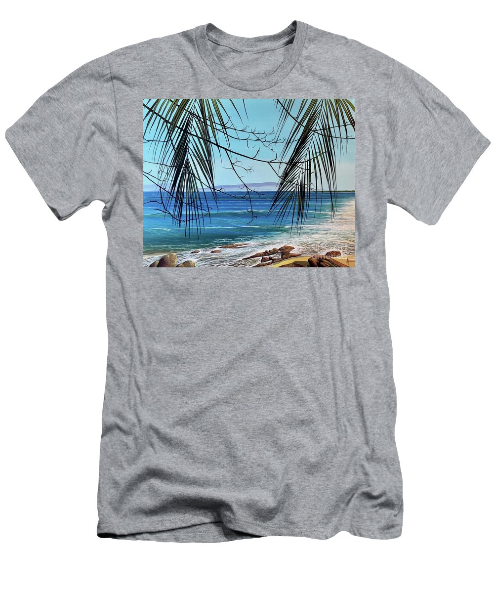 Beach T-Shirt featuring the painting Everything's Different Now by Hunter Jay