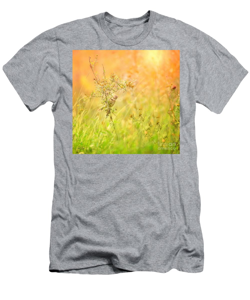 Aves T-Shirt featuring the photograph Field Sparrow by Heather Hubbard