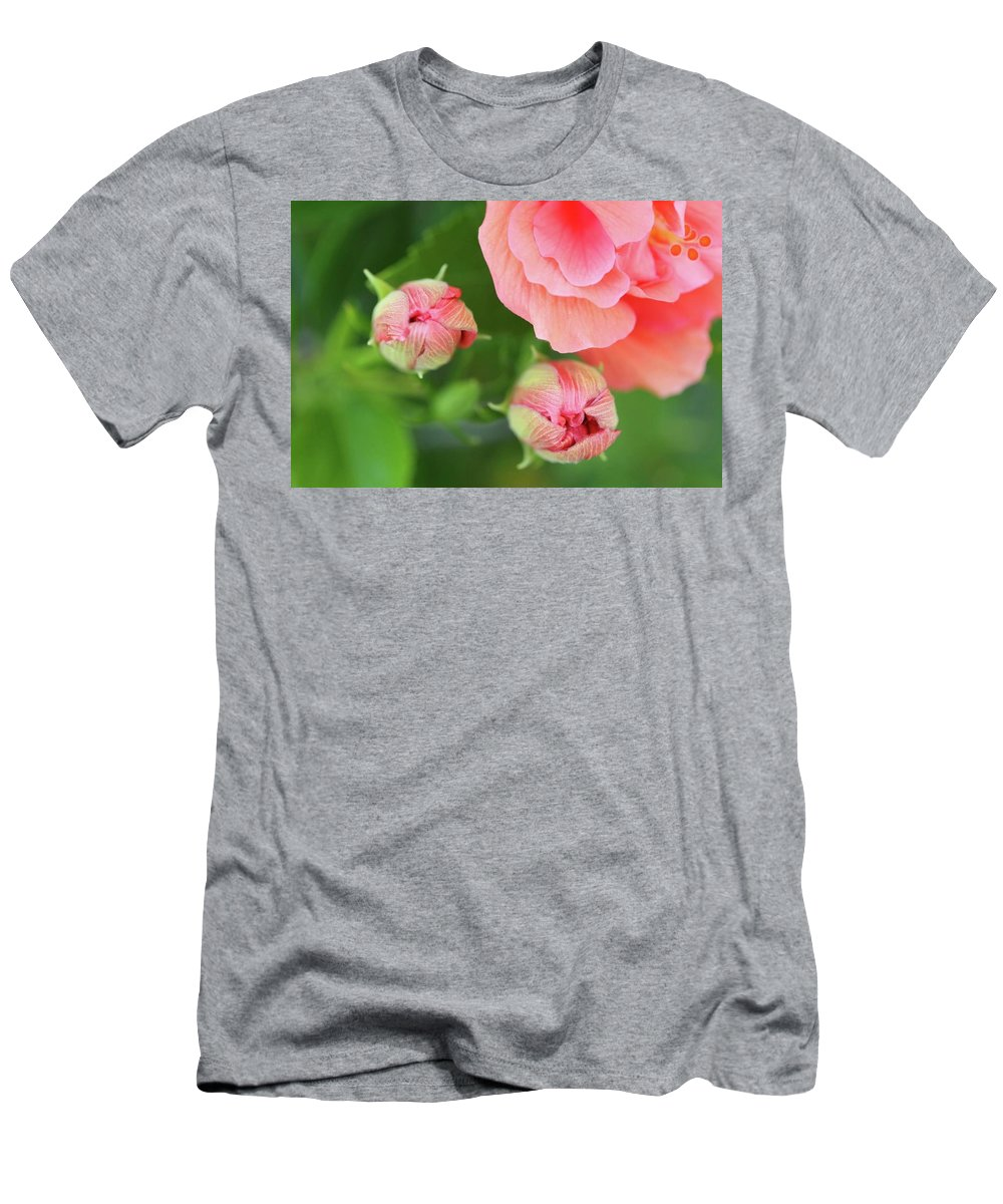 Pink Men's T-Shirt (Athletic Fit) featuring the photograph Flower Buds Rising by Brent Short