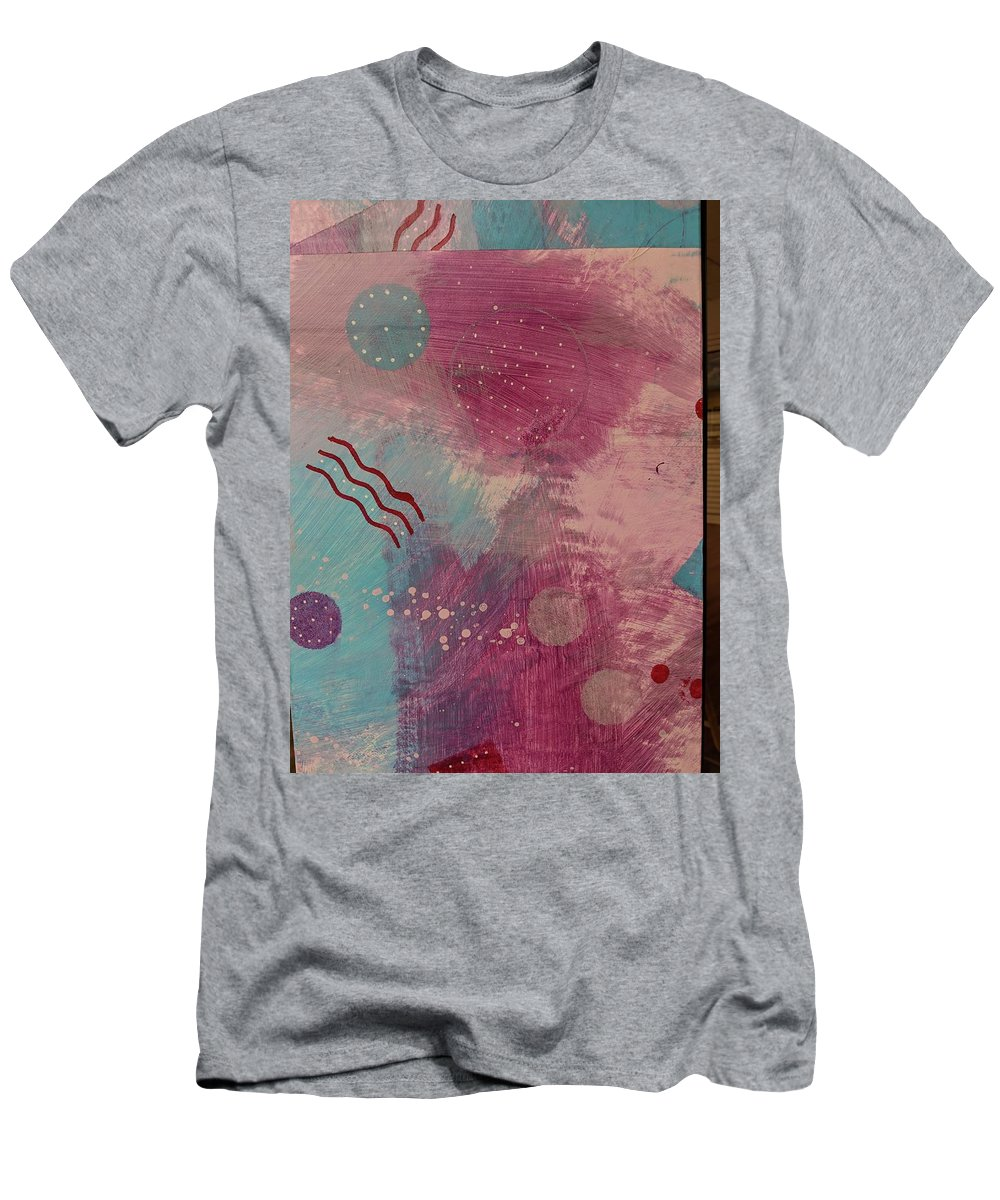 Men's T-Shirt (Athletic Fit) featuring the painting Free Form 4 by Vancouver Art Space