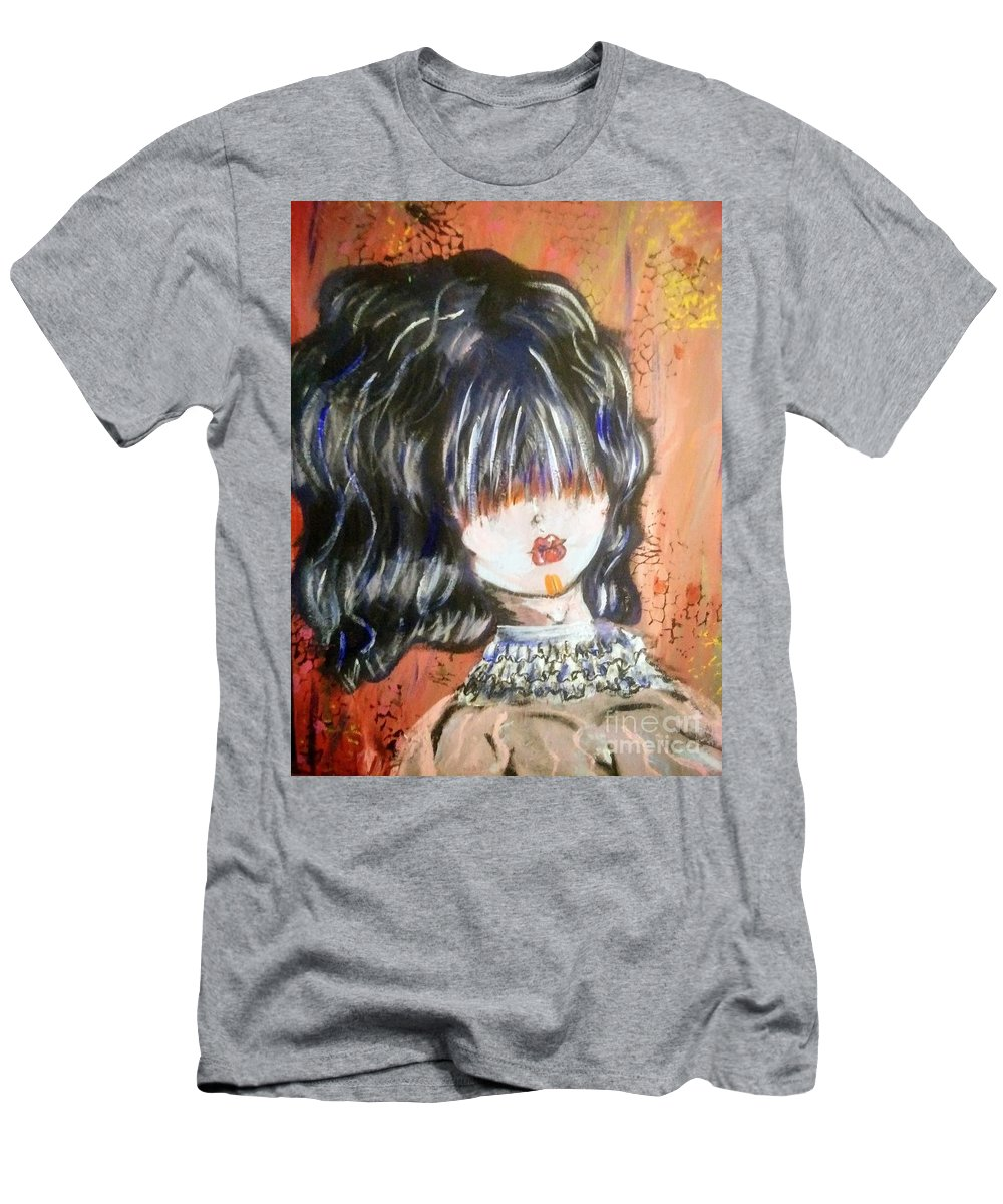 Painting Men's T-Shirt (Athletic Fit) featuring the painting Ghoul by Jonathan Peterson