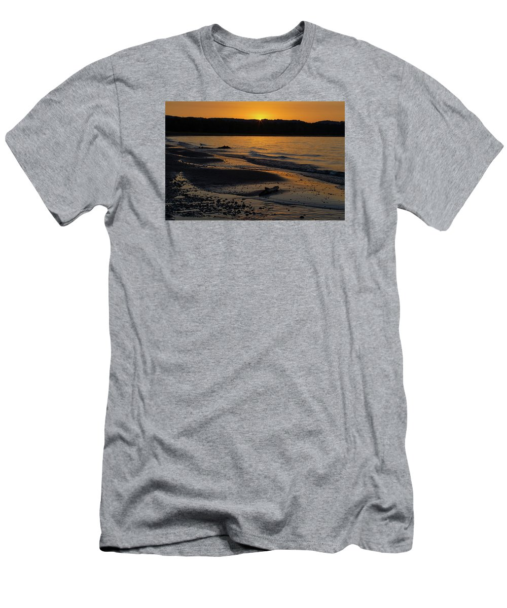 Sleeping Men's T-Shirt (Athletic Fit) featuring the photograph Good Harbor Bay Sunset by Heather Kenward