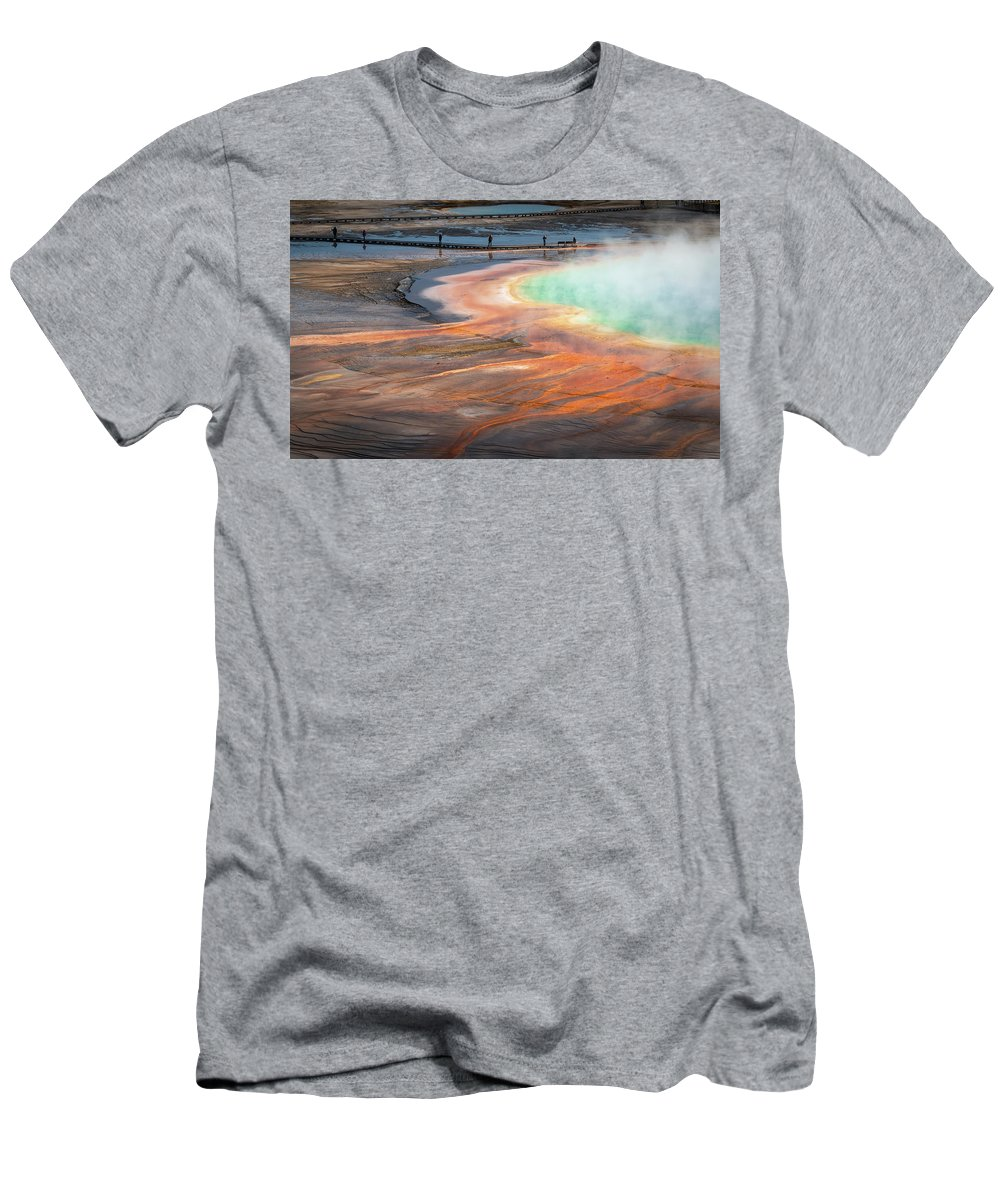 Cleveland Men's T-Shirt (Athletic Fit) featuring the photograph Grand Prismatic by Matt Shiffler