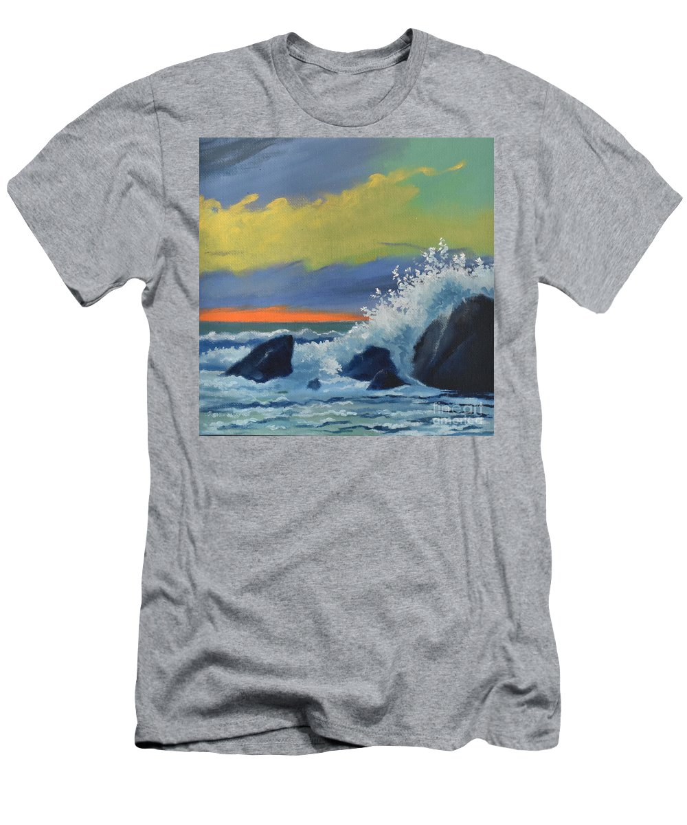 Oils Men's T-Shirt (Athletic Fit) featuring the painting Gunwallow by Ashley Jennings