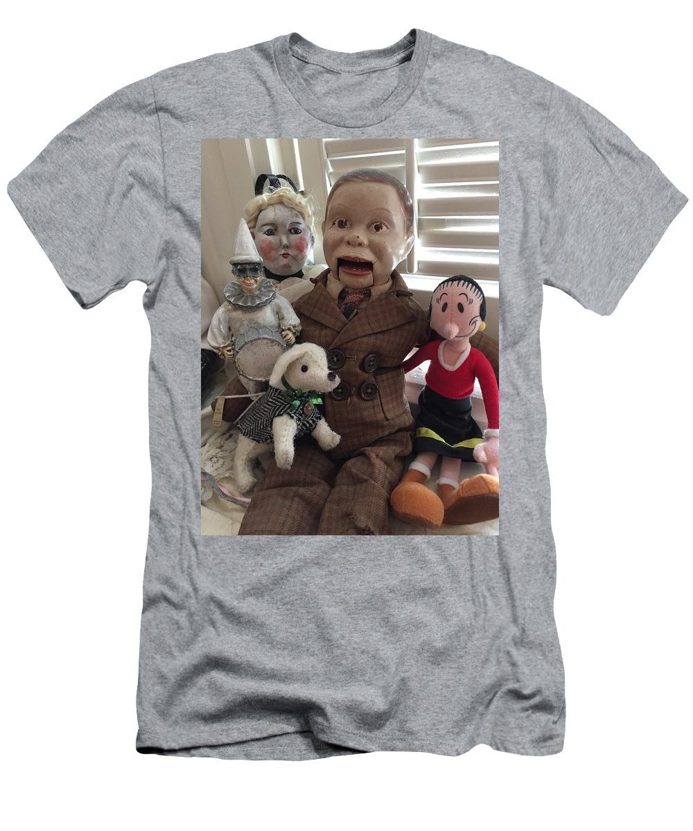 Puppet Men's T-Shirt (Athletic Fit) featuring the photograph Happy Halloween Toys by Laureen Sabella
